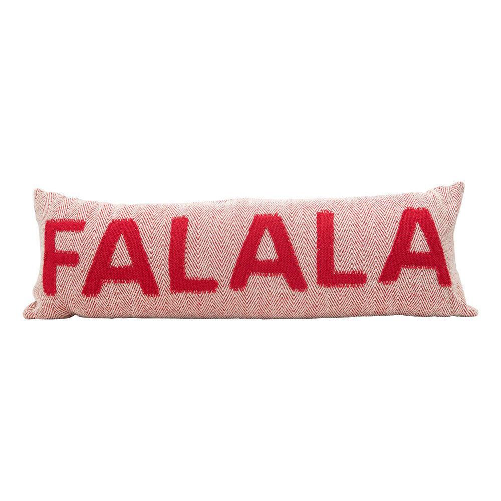 Fa La La Lumbar Pillow by Creative Co-op