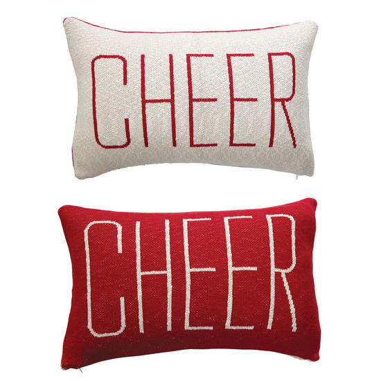 Cheer Pillow, 2-Sided by Creative Co-op