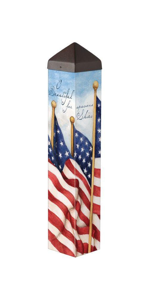 "America the Beautiful 20"" Art Pole by Studio M"