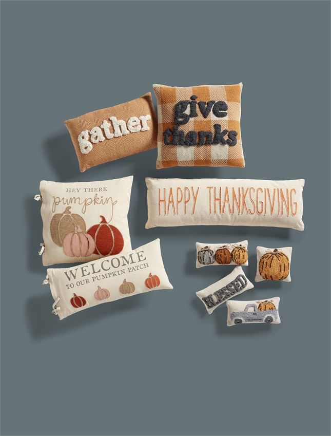 Hey There Pumpkin Patch Pillow by Mudpie
