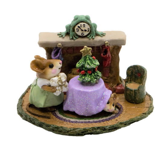 Christmas Eve M-191 (Green/Lavender Special) by Wee Forest Folk®