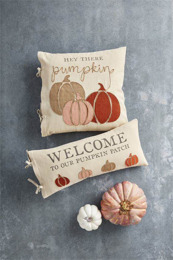Welcome Pumpkin Patch Pillow by Mudpie