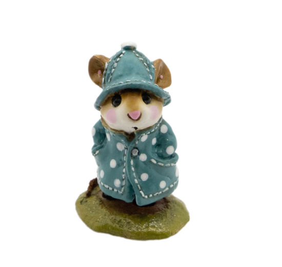 April Showers M-180 (Teal w/Dots Special) by Wee Forest Folk®