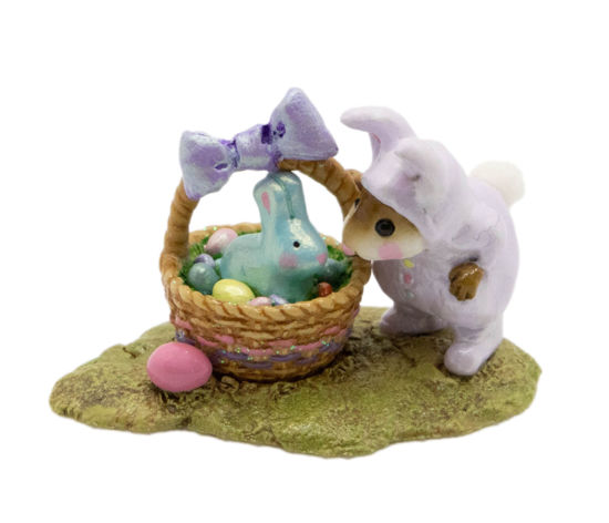 Bunny in a Basket M-251 (Lavender) by Wee Forest Folk®