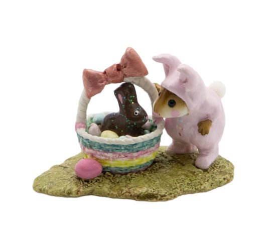Bunny in a Basket M-251 (Pink) by Wee Forest Folk®