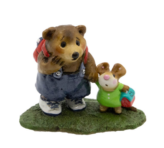 Mousie's Big Pal M-245 (Denim/Green Special) by Wee Forest Folk®