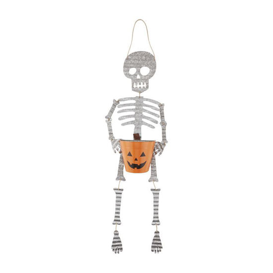 Skeleton Candy Bucket Hanger by Mudpie