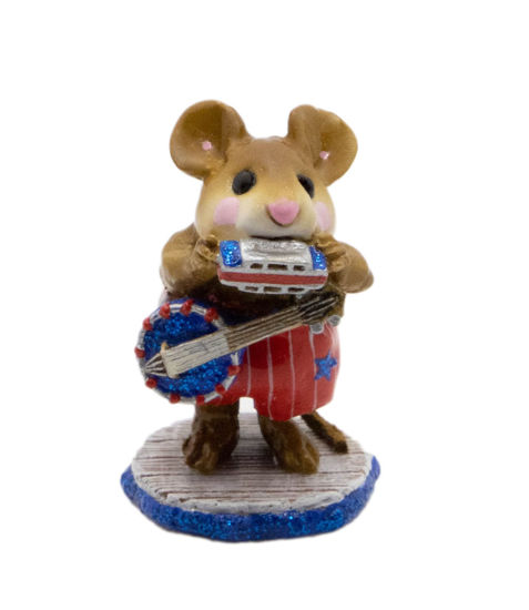 One Mouse Band M-196a (USA Red) by Wee Forest Folk®