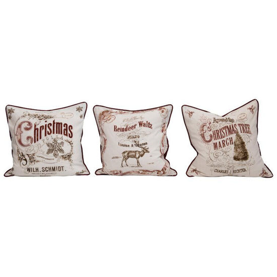 """24"""" Square Cotton Pillow with Burlap, 3 Styles by Creative Co-op"""