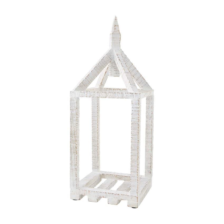 Wood House Lantern (Assorted) by Mudpie