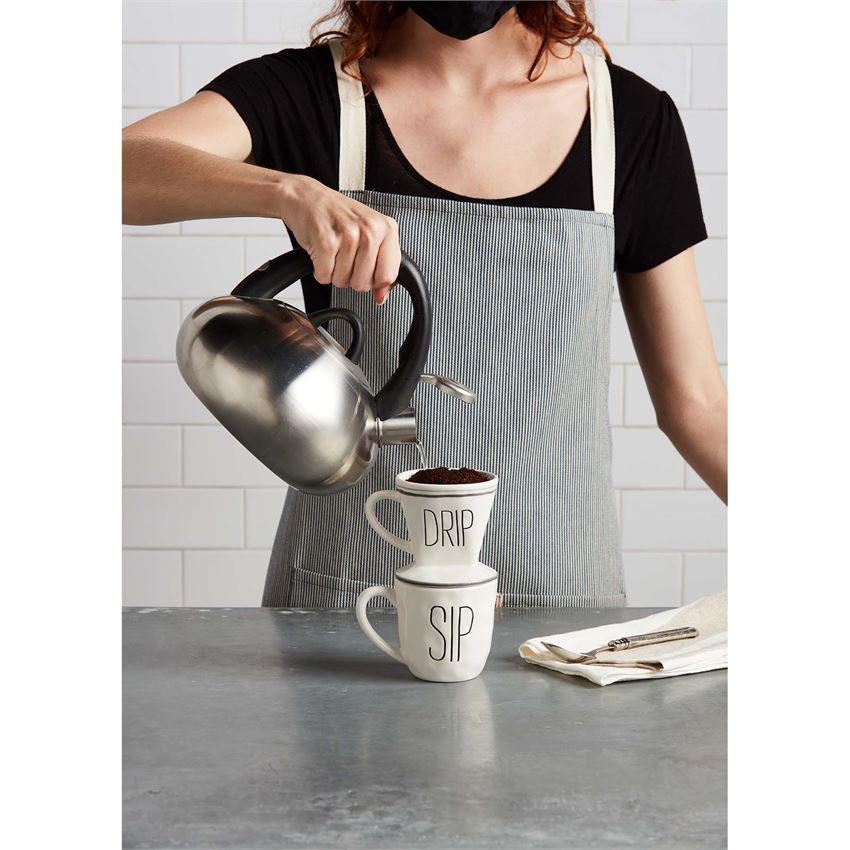 Bistro Pour Over Mug Set by Mudpie