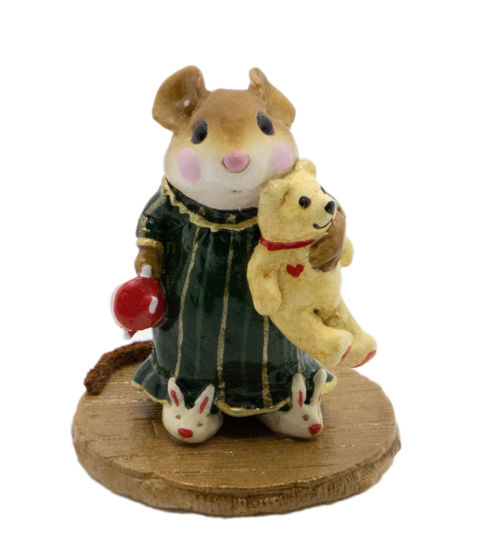 Mousey's Bunny Slippers M-218 (Dark Green Special) By Wee Forest Folk®
