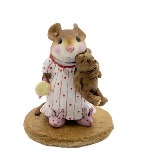 Mousey's Bunny Slippers M-218 (White w/Red Special) By Wee Forest Folk®