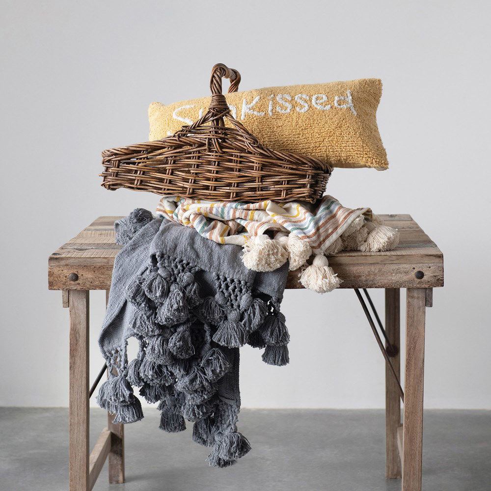 Sunkissed Cotton Pillow by Creative Co-op