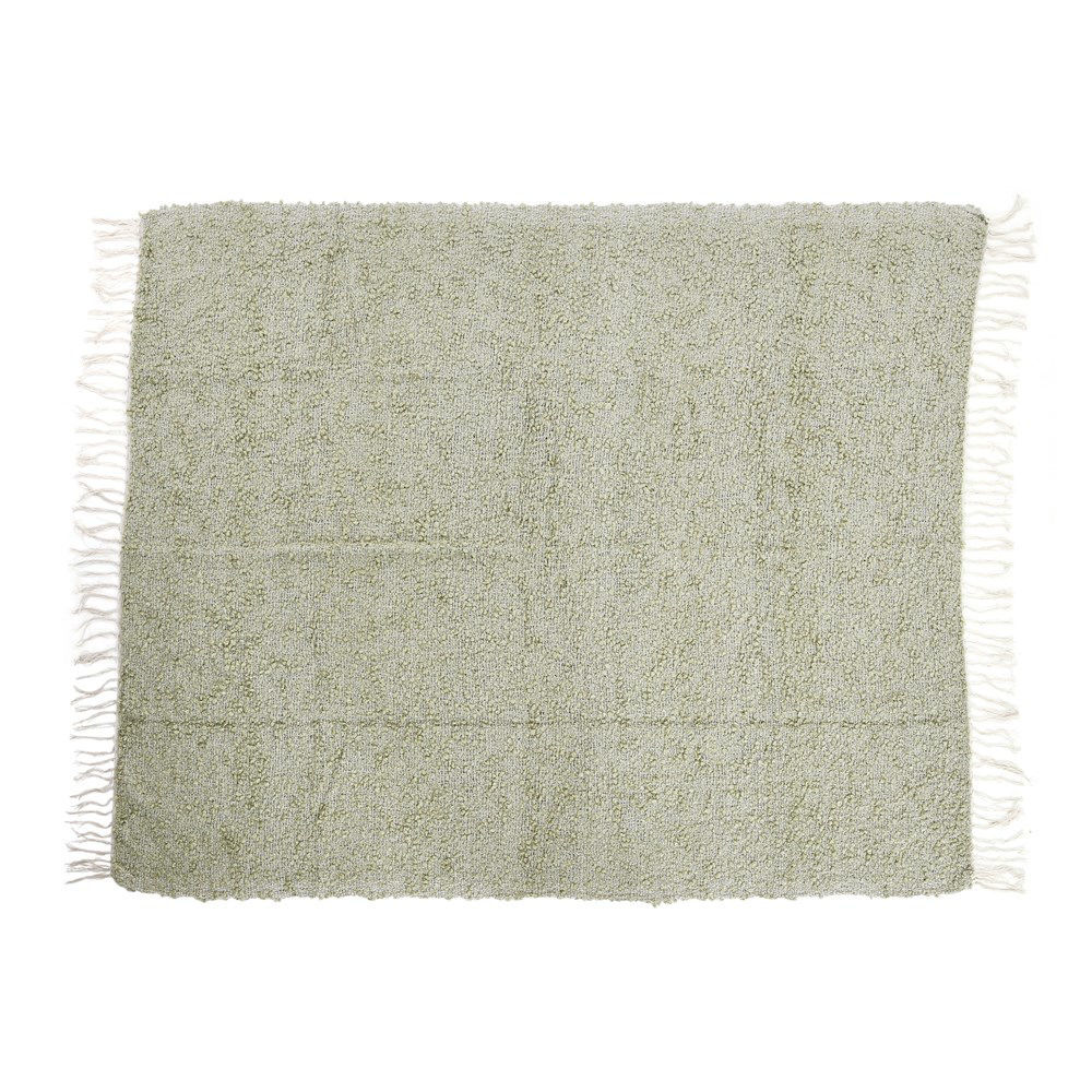 Hand Woven Throw w/ Fringe, Grey Color by Creative Co-op