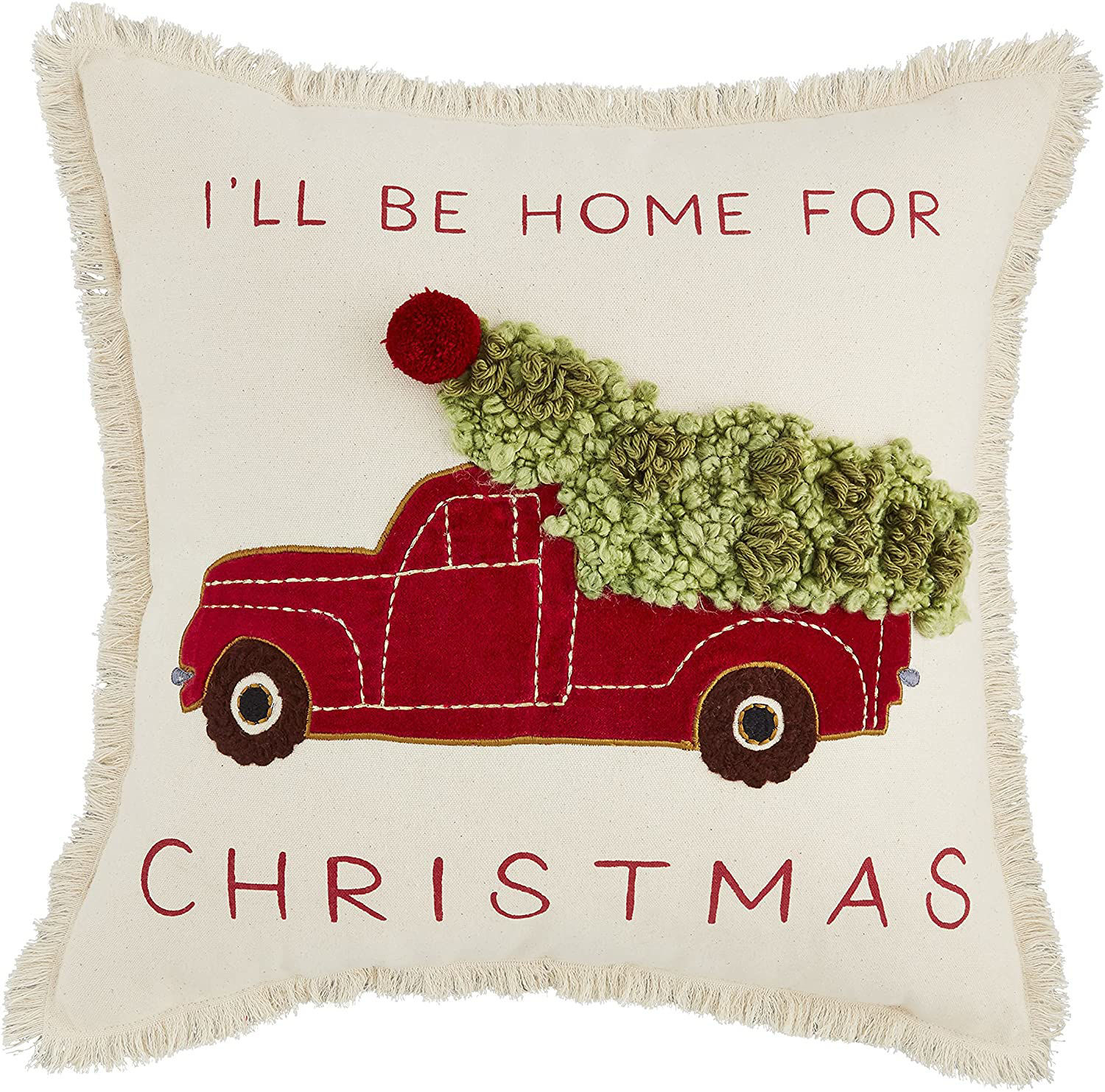 Christmas Applique Farm Pillows (Assorted) by Mudpie