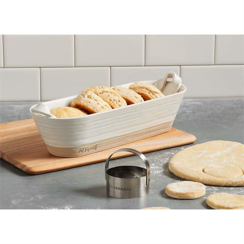 Bread Biscuit Bowl & Cutter Set by Mudpie