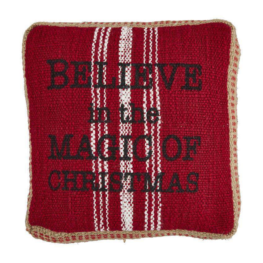Jute Gusset Christmas Pillows by Mudpie