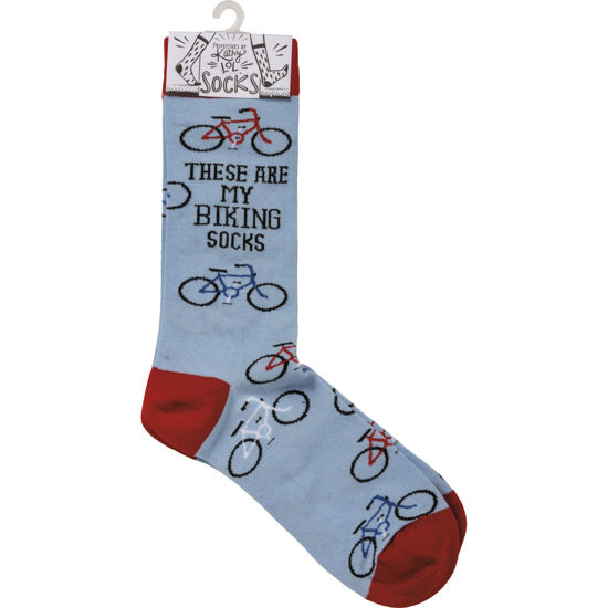 These Are My Biking Socks by Primitives by Kathy