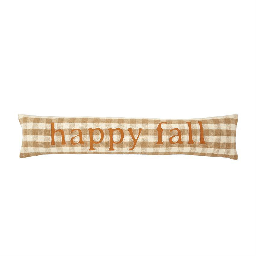 Fall Buffalo Check Skinny Pillows (Assorted) by Mudpie