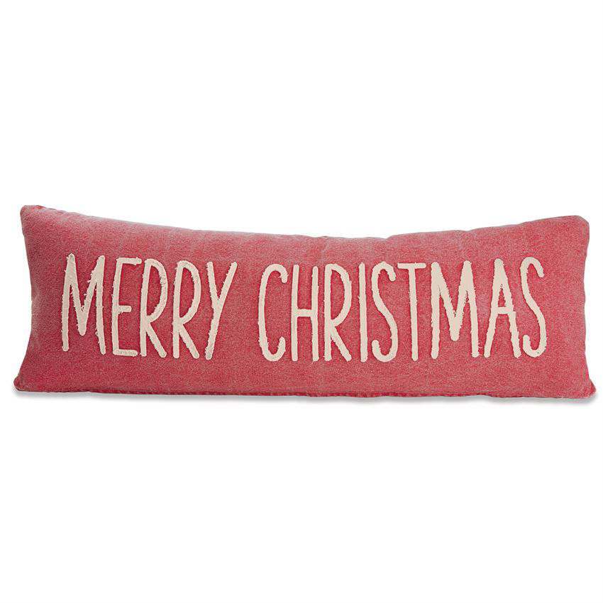 Merry Christmas Washed Canvas Pillow by Mudpie