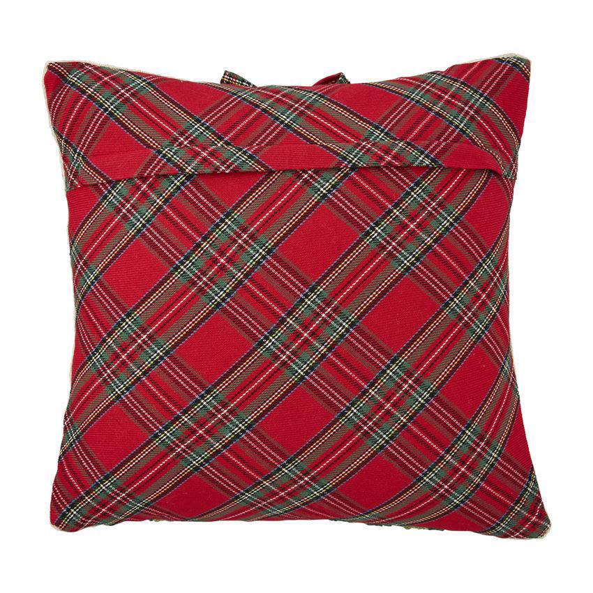 Tartan Hooked Pillow by Mudpie