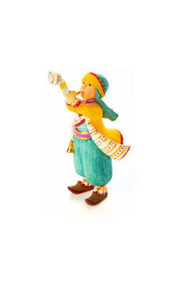 Mini Nativity Shofar Player Figure by Patience Brewster