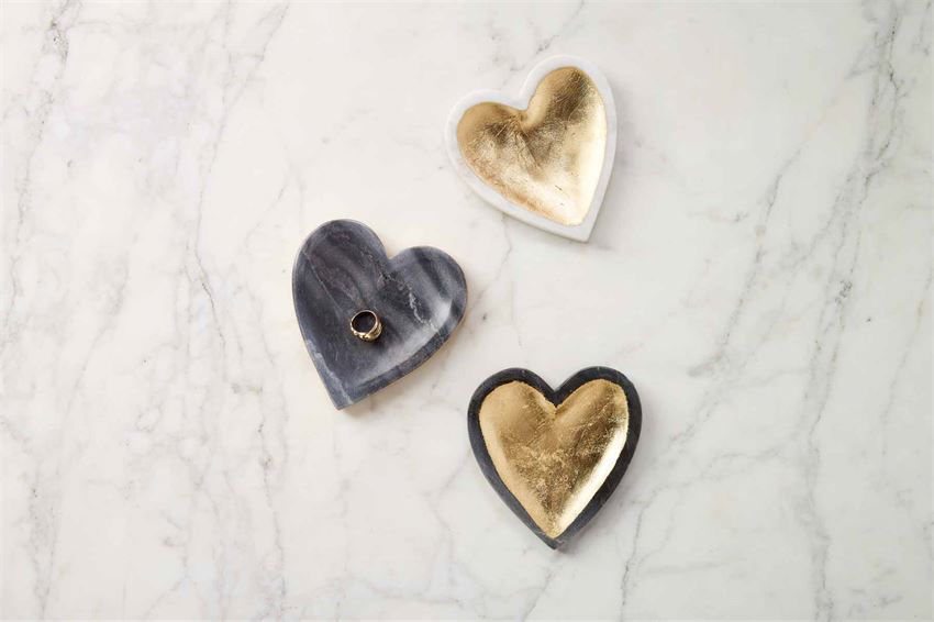 Marble Foil Trinket Tray (Assorted) by Mudpie