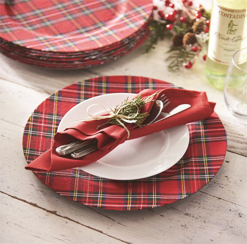 Tartan Christmas Charger by Mudpie