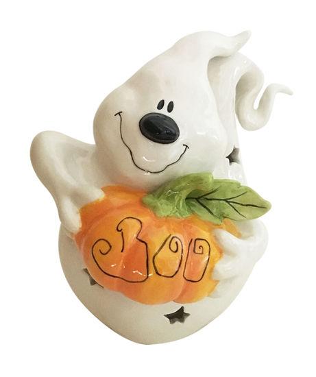 Boo Pumpkin Tealight Holder by Blue Sky Clayworks