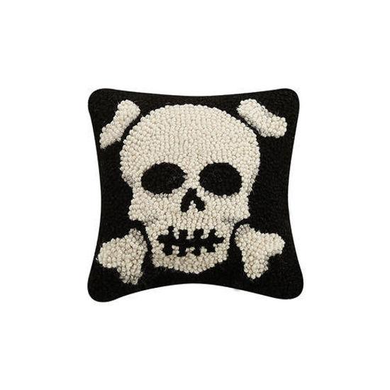 Skull with Crossbones Pillow by Peking Handicraft
