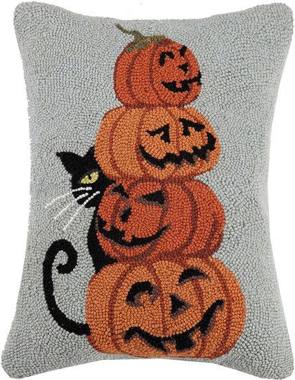 Black Cat with Pumpkins by Peking Handicraft
