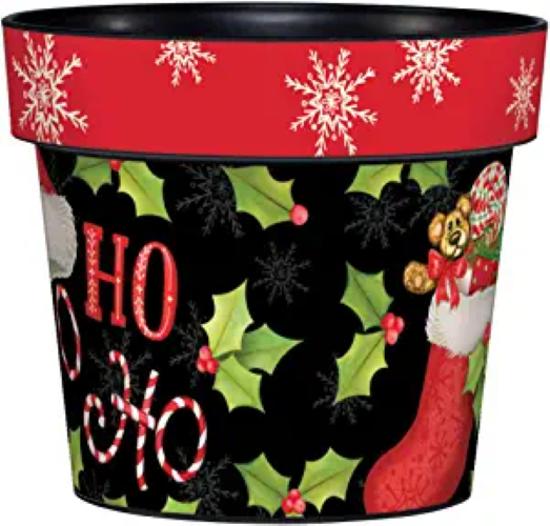 "Ho Ho Holly 6"" Art Pot by Studio M"