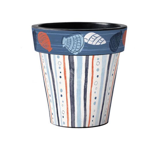 "Seaside Stripes 15"" Art Pot by Studio M"