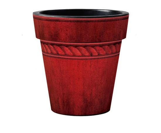 "Oxblood Ceramic Glaze 18"" Art Pot by Studio M"