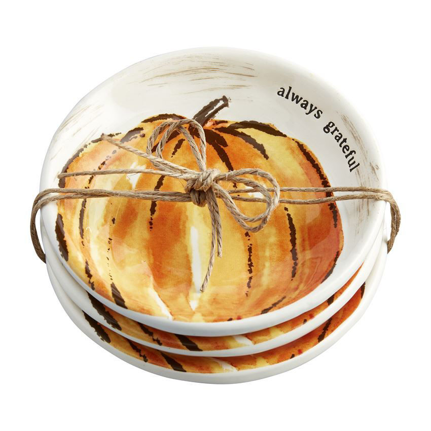 Pumpkin Dipping Dish Set (Assorted) by Mudpie