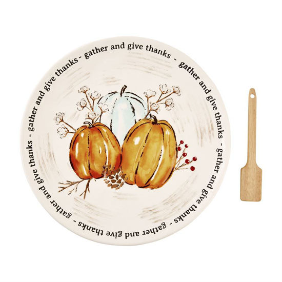 Rustic Round Cookie Plate Set by Mudpie