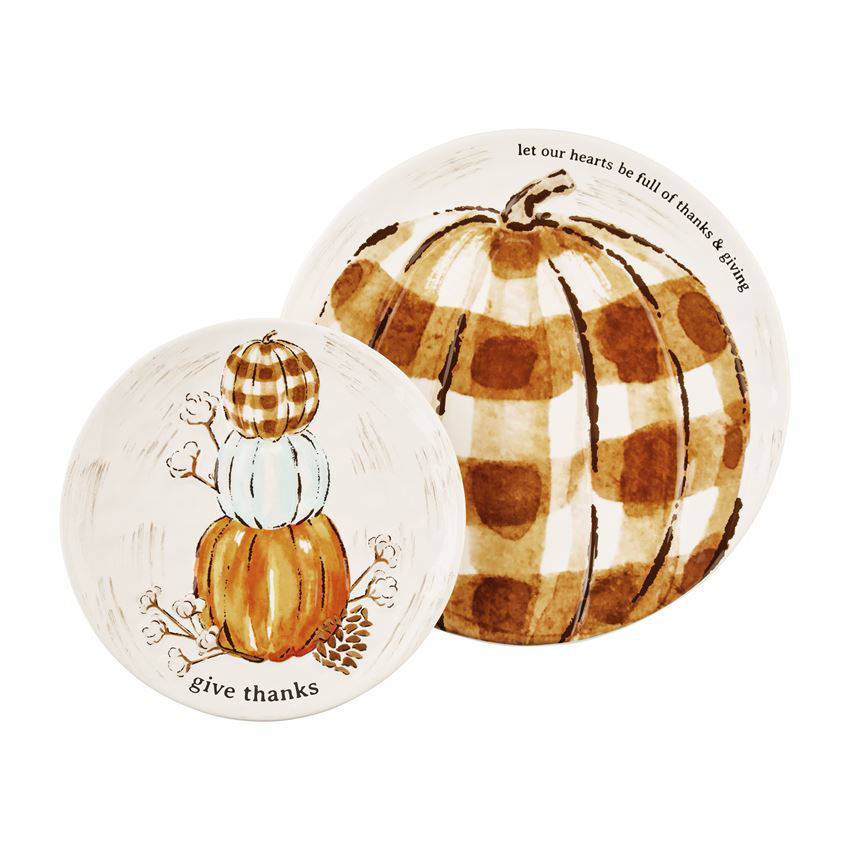 Pumpkin Platter Set by Mudpie