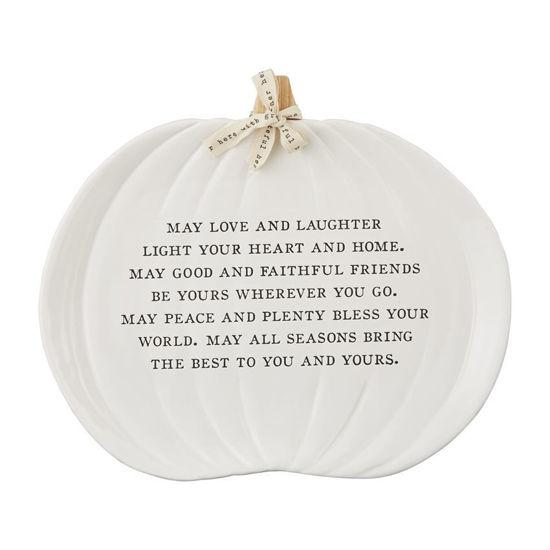 Pumpkin Laughter Platter by Mudpie