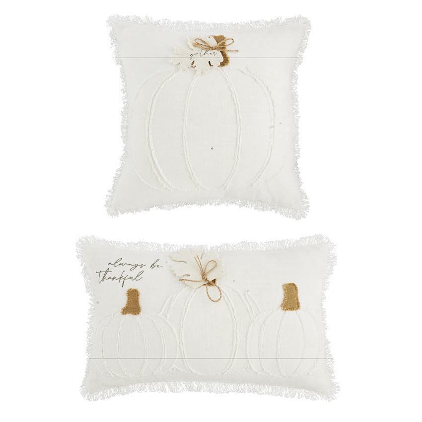 White Pumpkin Pillows by Mudpie