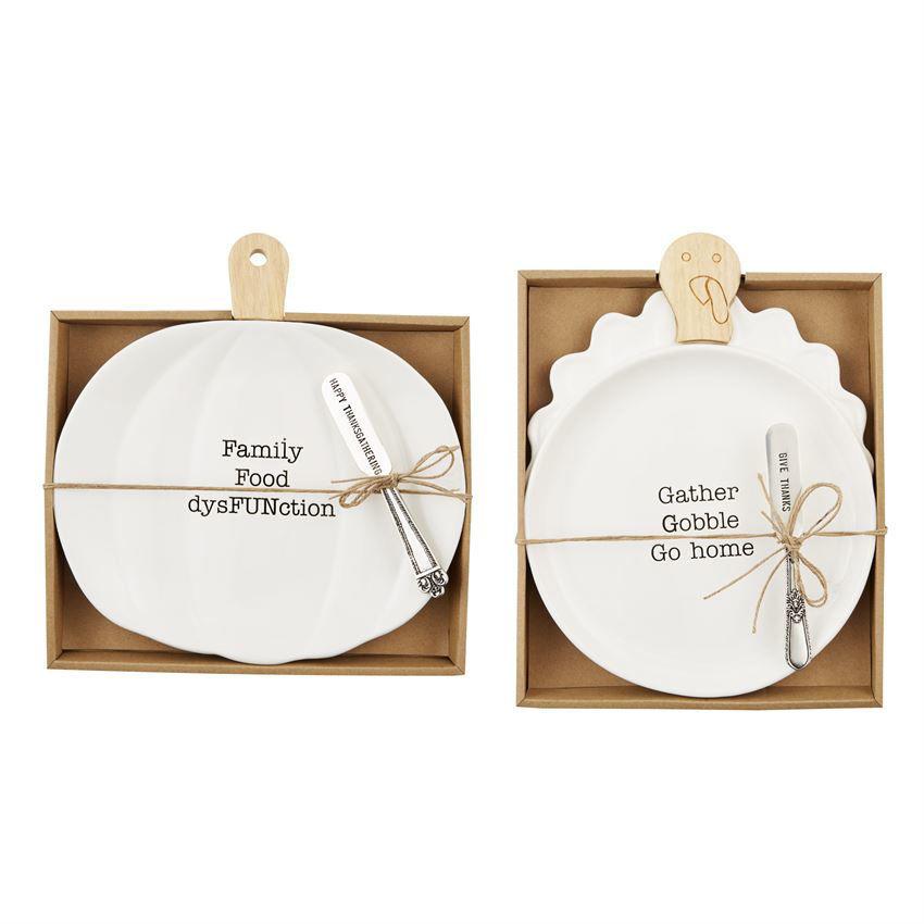 Pumpkin & Cheese Plate Set by Mudpie