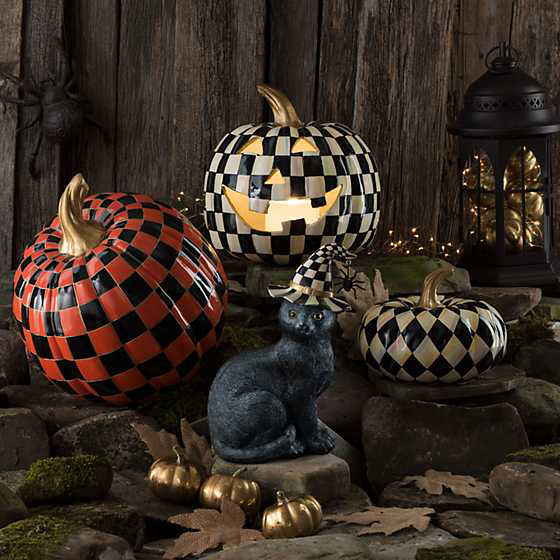 Courtly Check Illuminated Jack O' Lantern by MacKenzie-Childs