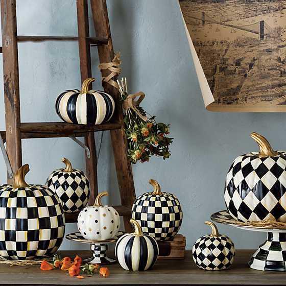 Courtly Harlequin Pumpkin - Medium by MacKenzie-Childs