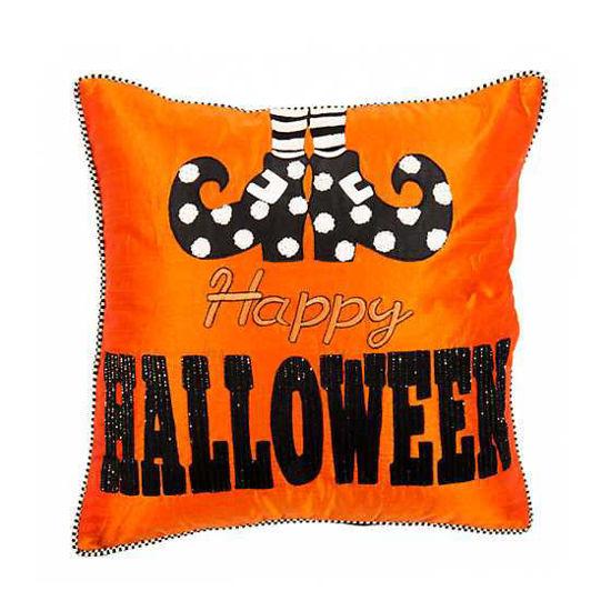 Happy Feet Halloween Pillow by MacKenzie-Childs