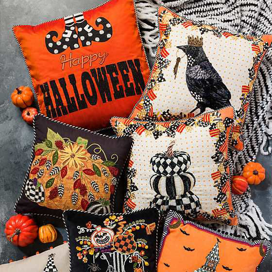 Halloween to Boot Pillow by MacKenzie-Childs
