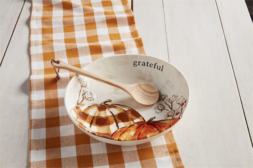 Pumpkin Serving Bowl Set by Mudpie