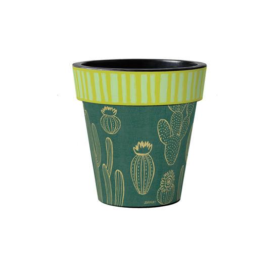 "Night Cactus Line 12"" Art Pot by Studio M"
