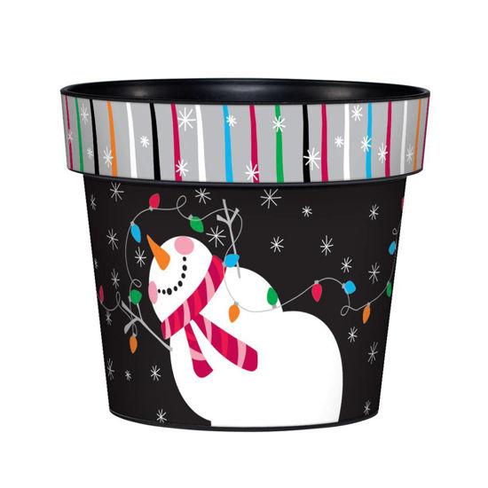 "Merry & Bright Snowman 6"" Art Pot by Studio M"