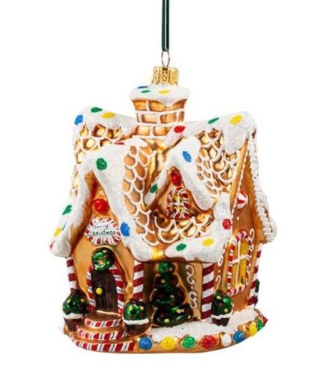 Gingerbread House with Spiky Roof Ornament by Huras Family