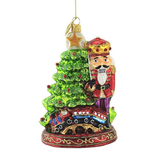 Nutcracker by the Christmas Tree Ornament by Huras Family